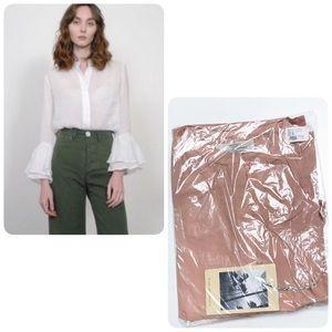 NWT Trovata Victoria bell sleeve blouse shirt XS